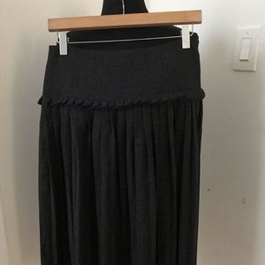 BCBG Gray Ruffled Skirt